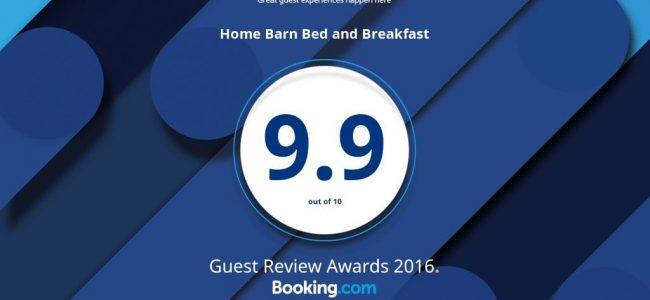 9.9 Booking.com award.